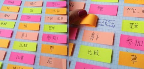 How to learn a language at home - Post-It Notes are a good start