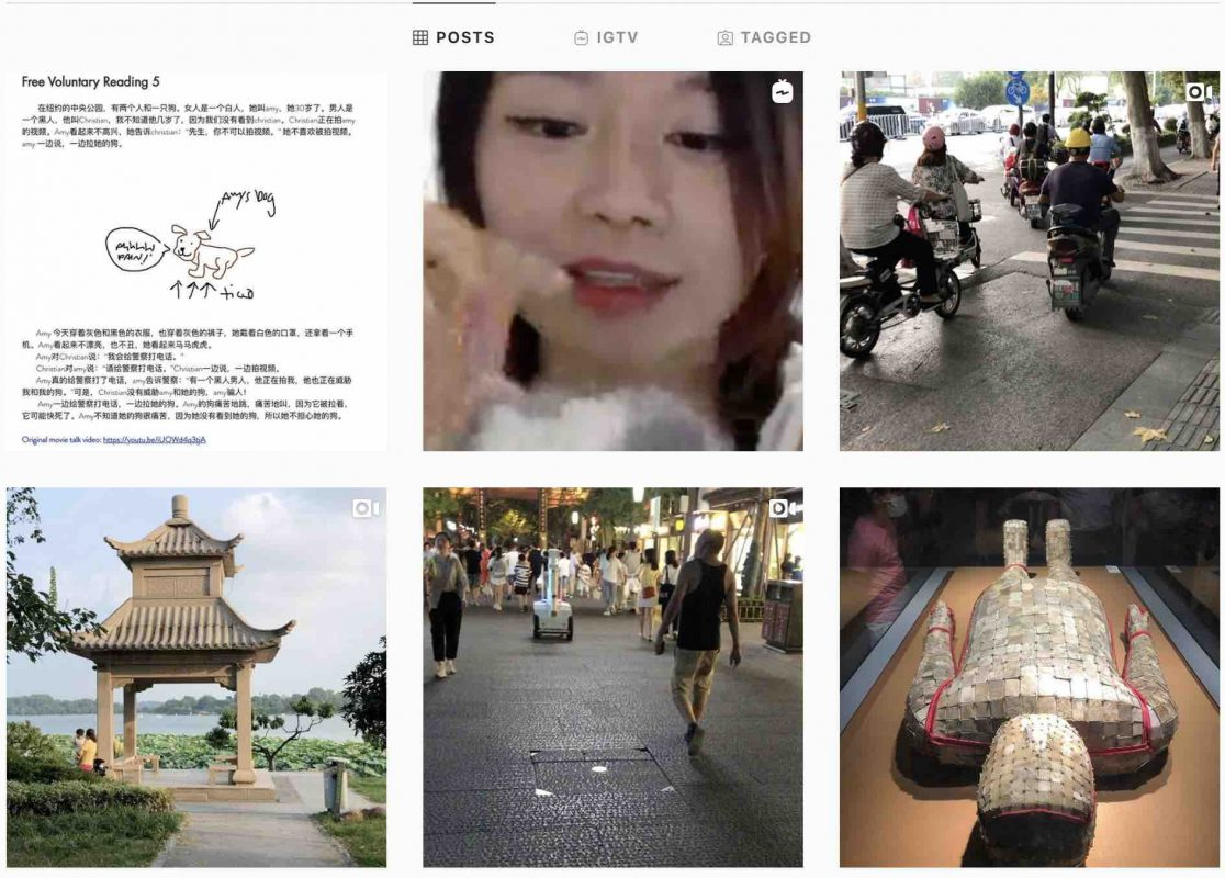 Learn Chinese using Instagram